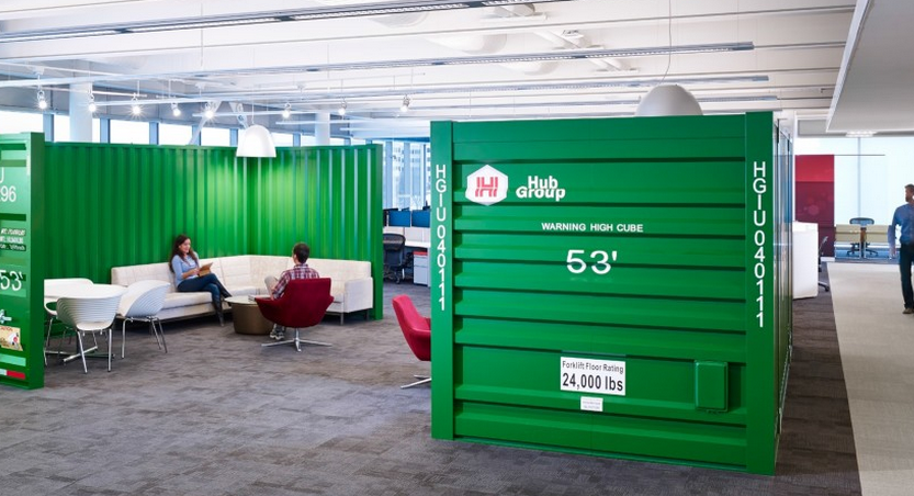 Hub Group Recieves Editors Pick for Coolest Office in Chicago